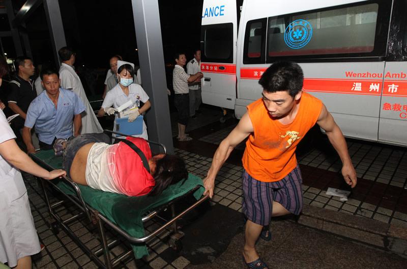 动车温州追尾事故 抢救伤员 动车